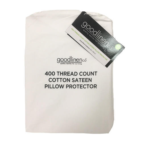 400 Thread Count Cotton Sateen King Pillow Protector by Good Linen Co®