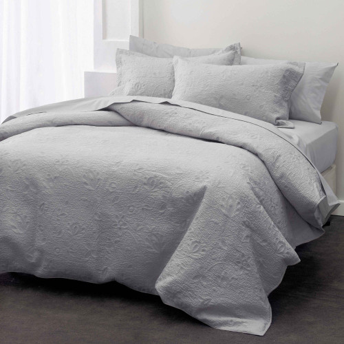 Chantel Grey Throwover Bedspread Set by Savona