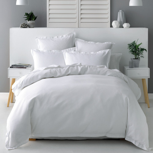 Nova White Duvet Cover Set by Savona