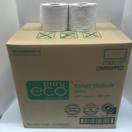 Commercial Pure Eco Enviro Toilet Tissue Unwrapped - 48 Rolls