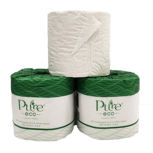 Commercial Pure Eco Enviro Toilet Tissue Wrapped - 48 Rolls