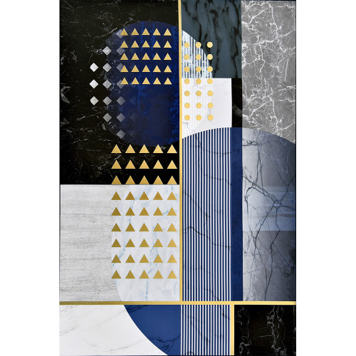 Cobalt Abstract Canvas by Linens & More