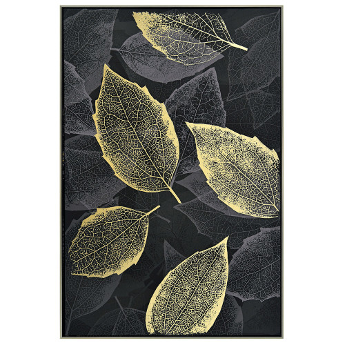 Leafy Shimmer Canvas by Linens & More
