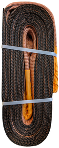 Tow Strap - Brown, 6 inch x 30ft, 96,000 LBS