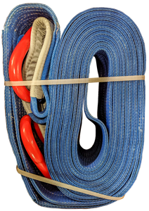 Tow Strap - Blue, 8 inch x 50ft D-Rings, 128,000 LBS