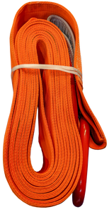 Tow Strap - Orange, 12 inch x 50ft D-Rings, 192,000 LBS