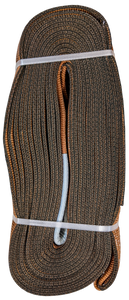 Tow Strap - Brown, 6 inch x 50ft, 96,000 LBS