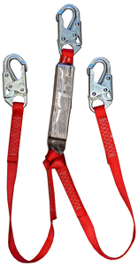 3M™ Protecta® - PRO Pack 100% Tie-Off Shock Absorbing Double Leg with Snap Hooks Lanyard, 4ft