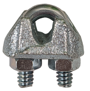 """Wire Rope Clip -Malleable, 1/8"""""""