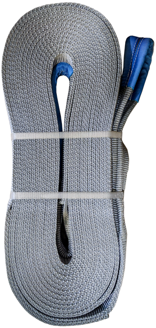 Tow Strap - Grey, 4 inch x 50ft, 64,000 LBS