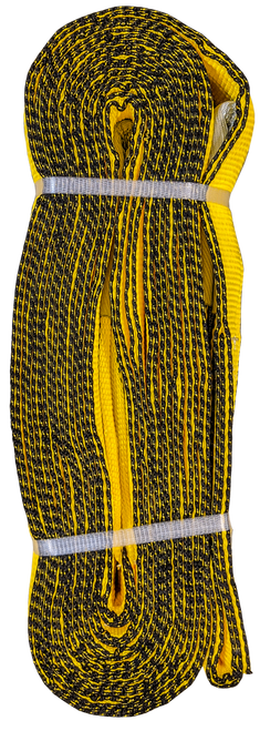 Tow Strap - Yellow, 3 inch x 30ft, 48,000 LBS