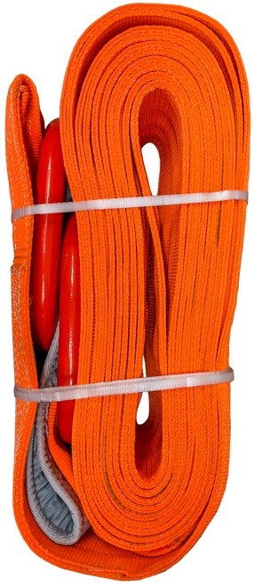 Tow Strap - Orange, 10 inch x 50ft D-Rings, 160,000 LBS
