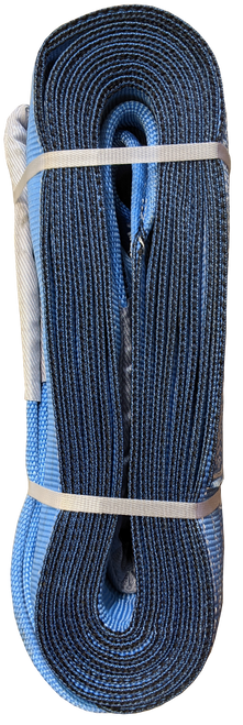 Tow Strap - Blue, 8 inch x 30ft, 128,000 LBS