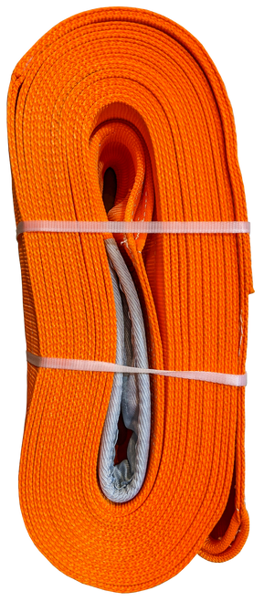 Tow Strap - Orange, 10 inch x 50ft, 160,000 LBS