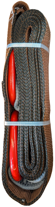 """Tow Strap With D-Rings, 2 PLY , 96,000LBS 6""""x20ft"""