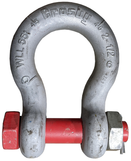 Shackle - Crosby® Bolt Type, 2-1/2 inch