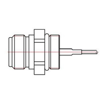 1 ft 100-series Cable with MMCX to N-Female (N Jack) Connectors