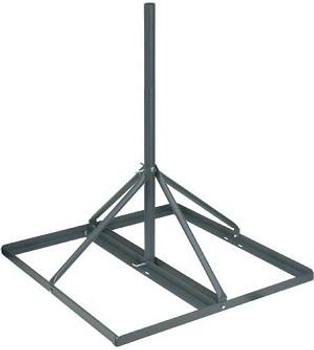 5 ft Antenna Roof Mount with Roof Mat (ballasted/ does not penetrate roof)