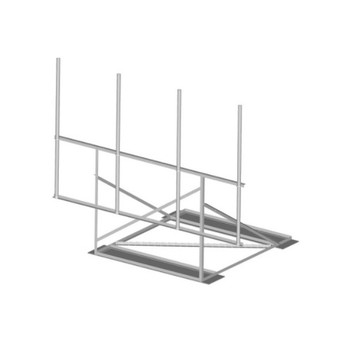10 ft Antenna Roof Mount Non-Penetrating Sector Frame with Mats