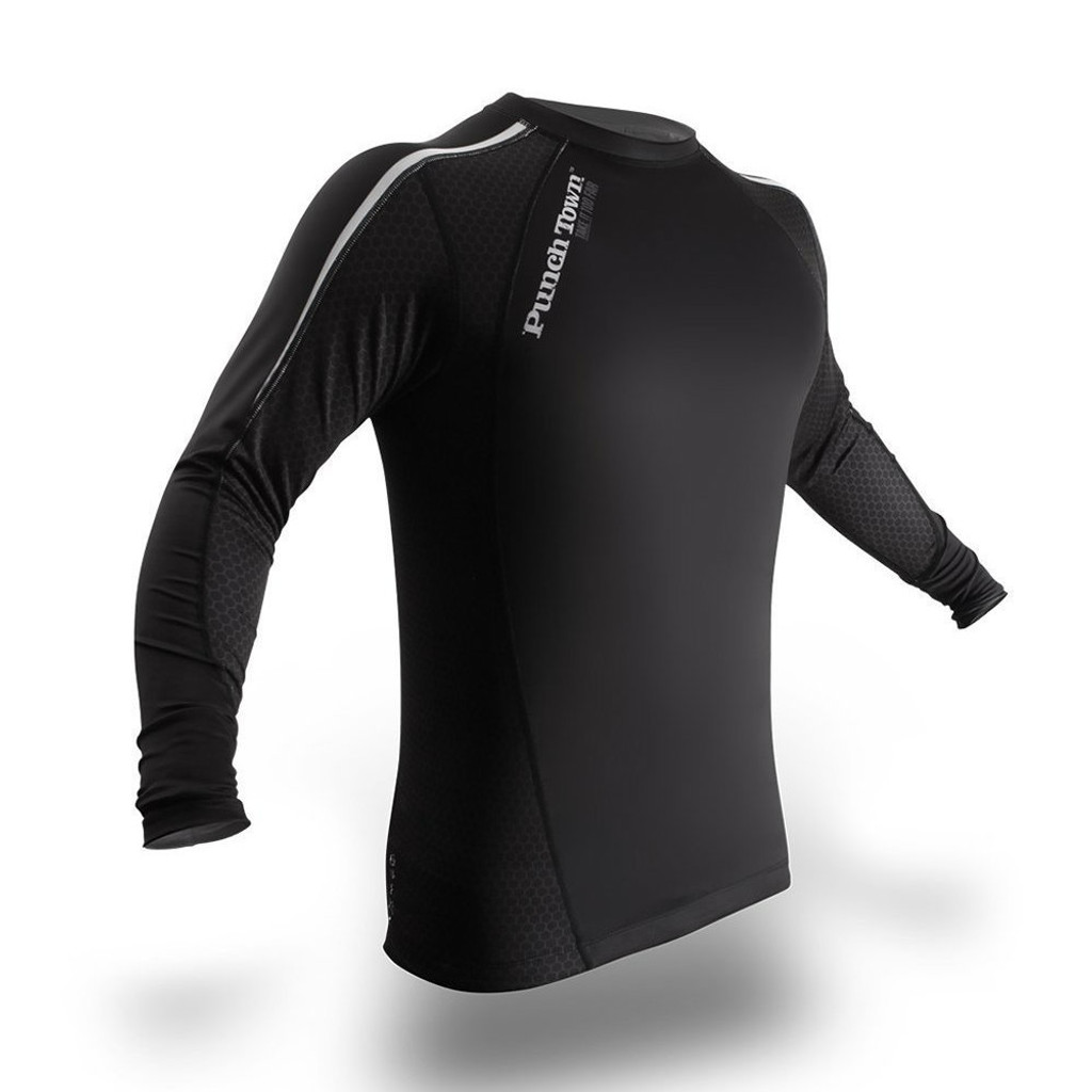 PunchTown Classic Dark Long Sleeve Rash Guard