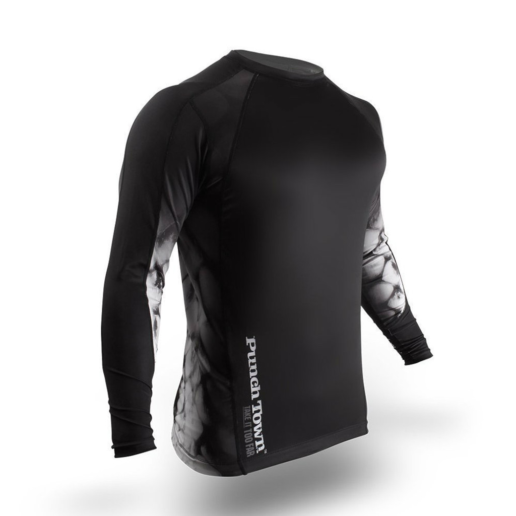 PunchTown Black Crush Long Sleeve Rash Guard