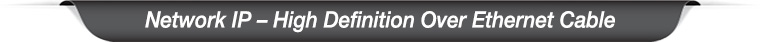 Network IP HD over ethernet banner