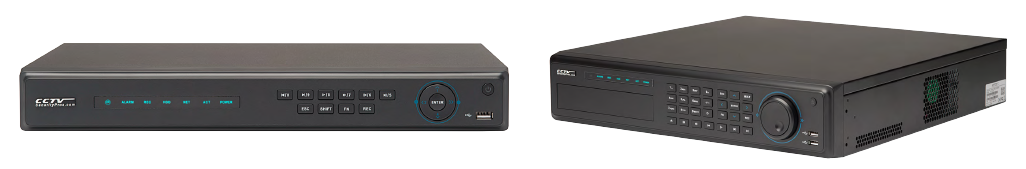 DVR and NVR video recorders
