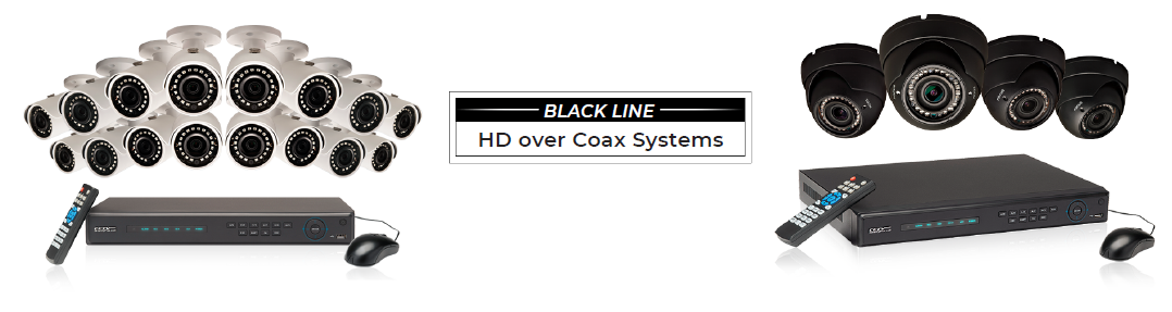 Black Line HD-over-Coax Security System