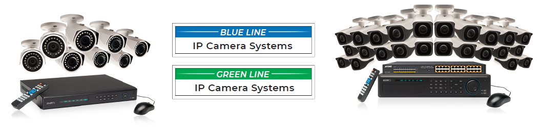 Blue Line and Green Line IP security systems