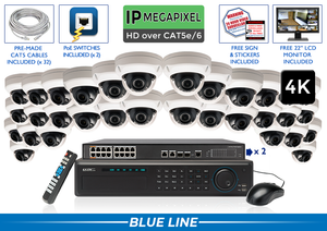 EXTREME Series Complete 32 (4K) IP Camera System / 32NVRAD8