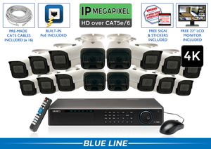 PRO Series Complete 16 (4K) IP Camera System / 16POEMX8