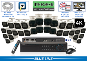 EXTREME Series Complete 32 (4K) IP Camera System / 32NVRMX8