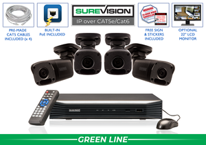SureVision Complete 4 IP Camera System with Free Upgrade to 8 Channel NVR / 4IPMB4-B