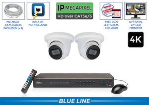 PRO Series Complete 2 IP Camera System with 4 Channel NVR / 2POEMIC8