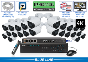 EXTREME Series Complete 24 IP Camera System with 32 Channel NVR / 24NVRB8-S