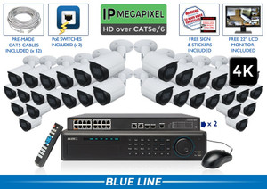 EXTREME Series Complete 32 IP Camera System / 32NVRB8-S