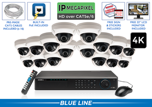 PRO Series Complete 16 (4K) IP Camera System / 16POEAD8
