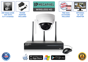 WIRELESS 3 Megapixel 1080p Infrared Dome Security Camera System