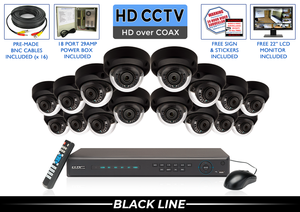 PRO Series Complete 16 HD over Coax Camera System / 16PROCVIMD4-B