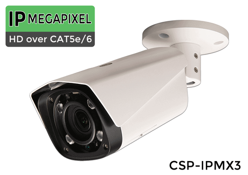In/Outdoor IP 3MP 1080 IR Bullet Camera w/ Motorized 4x Zoom Adjustable Lens 180ft night vision