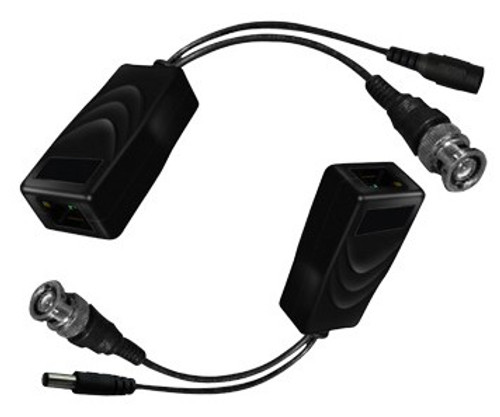 CAT 5 to BNC Passive Video Balun Video and Power Converters - 2-Piece RG59 / CAT5