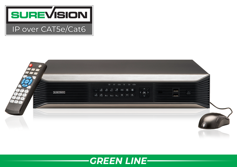 SUREVISION™ 32 Channel 4K Network Video Recorder with 8 Hard Drive Slots