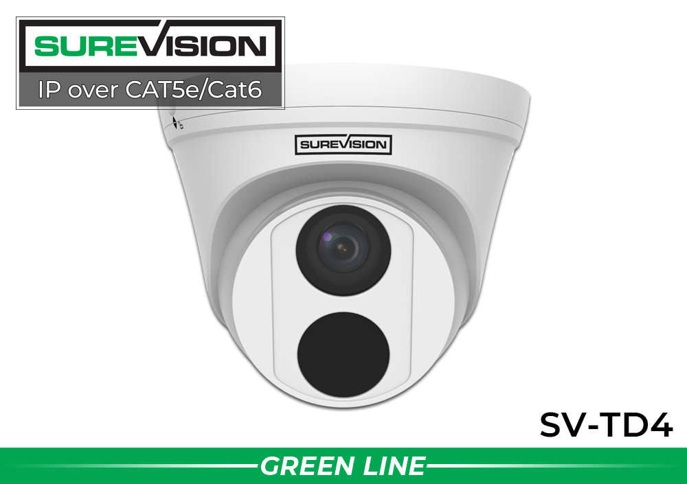 SUREVISION 4MP Fixed Turret Dome IP Security Camera