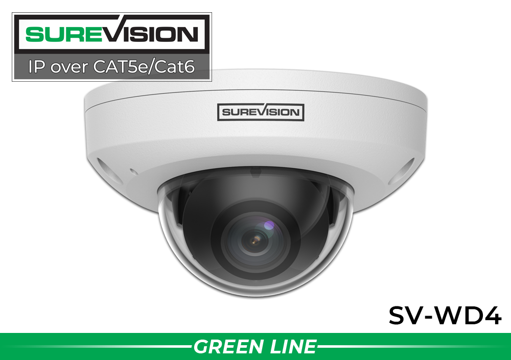 (Built in Microphone) SUREVISION™ 4MP Vandal Resistant Infrared Dome Camera