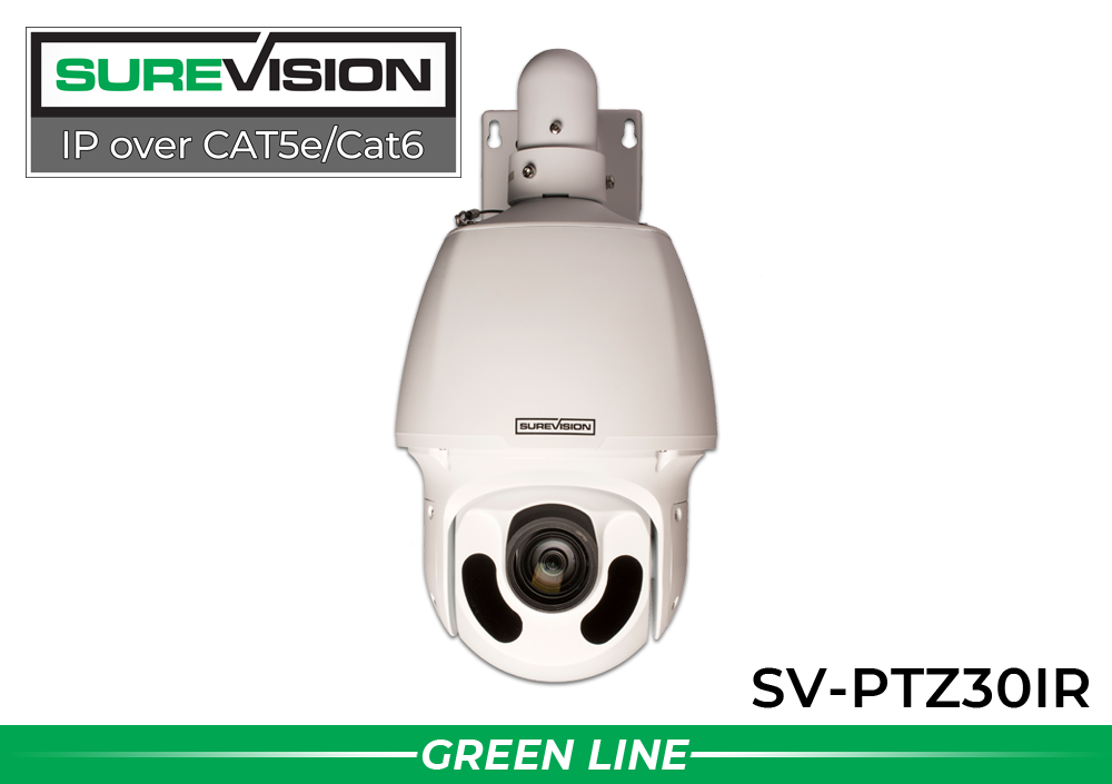 Infrared POE IP PTZ Dome Camera with 30x Zoom
