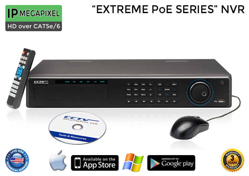 PRO Series Complete 16 IP Camera System / 16POEMIC4