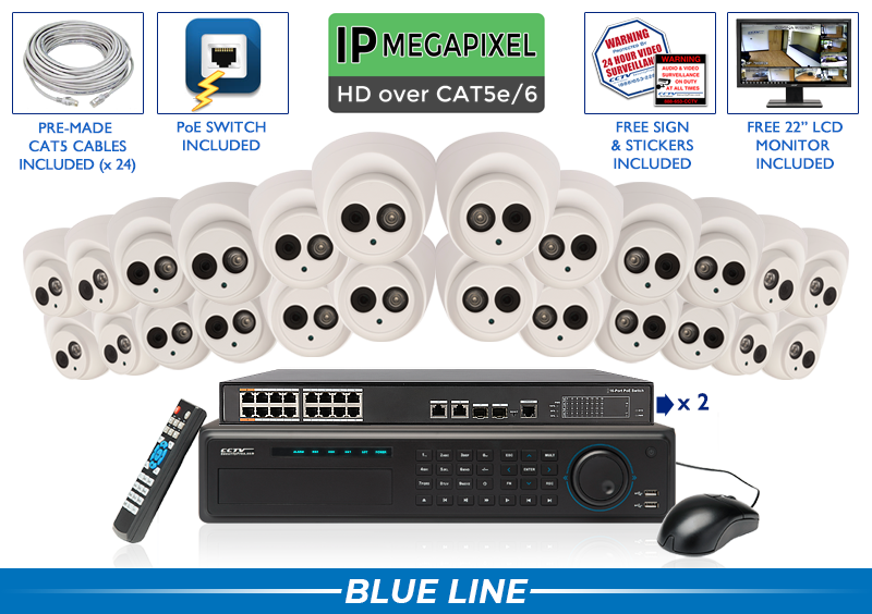 EXTREME Series Complete 24 IP Camera System with 32 Channel NVR / 24NVRMIC4