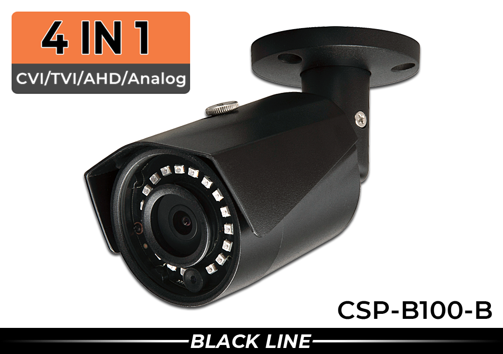 (4 in 1) Indoor/Outdoor 1000 Lines High Resolution Bullet Security Camera with 2.8mm Wide Angle Lens