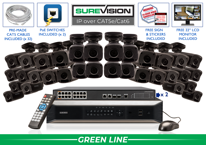 SureVision Complete 32 IP Camera System / 32IPMB4-B