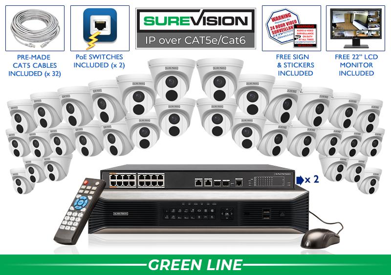 SureVision Complete 32 IP Camera System / 32IPTD4